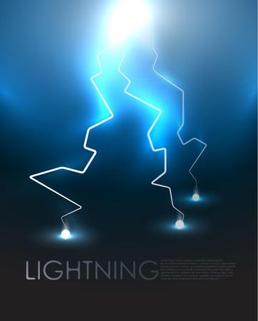 thunder and lightning: Lightning background Illustration