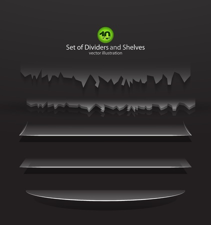 dividers and shelves Vector