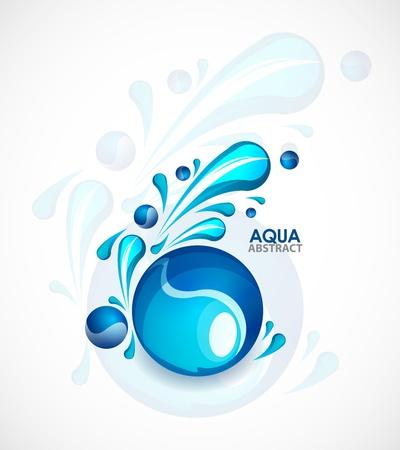 compostion: Aqua background Illustration