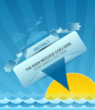 Sea message design Vector