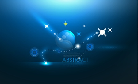 Blue galaxy background Vector