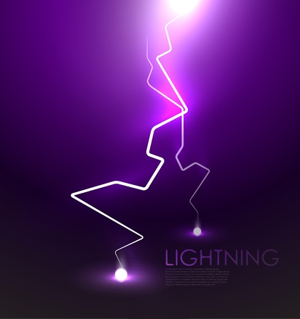 Lightning background Stock Vector - 12493853