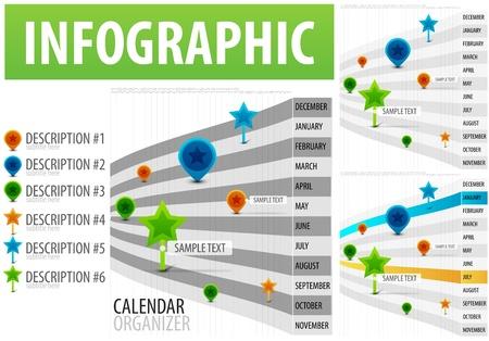 timeframe: Calendar infographics