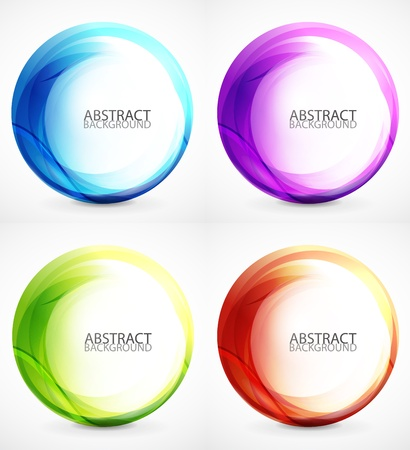 Swirl symbol, icon, background set Vector