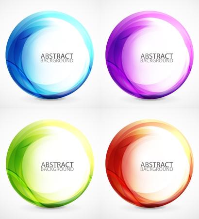 kreis: Swirl Symbol, Ikone, Hintergrund-Set