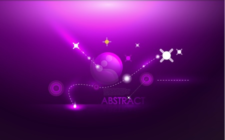 purple stars: Abstract cosmic compostion