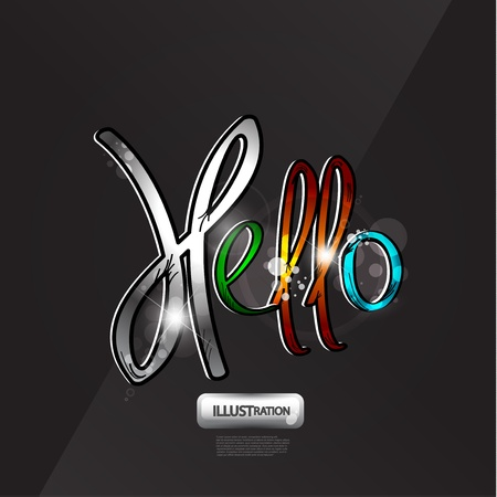 Word hello background Vector