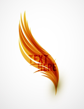 feather pen: Abstract wave text line Illustration