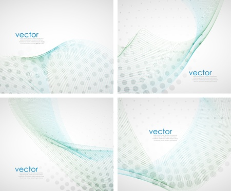 Abstract waves background set Stock Vector - 13001976