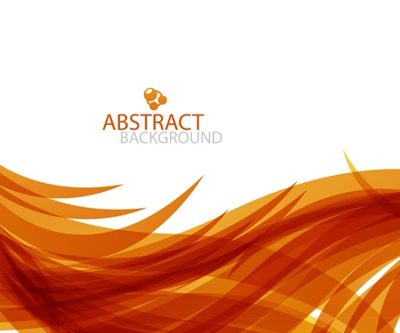 Abstract orange wave Stock Vector - 13001945