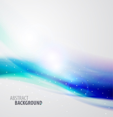 Abstract vector waves background