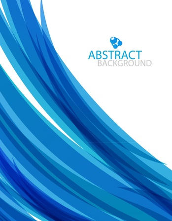 Abstract blue wave Vector
