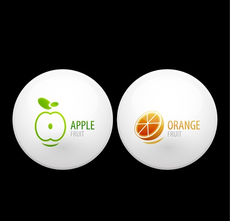 Fruit buttons Vector