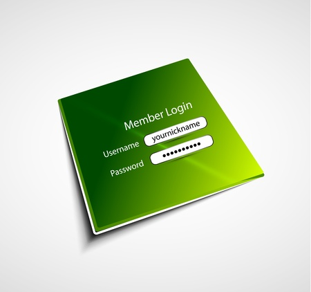 Login label background Vector