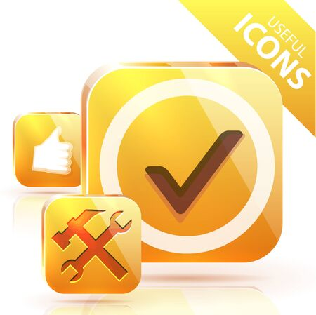 Yellow buttons Stock Vector - 13003257