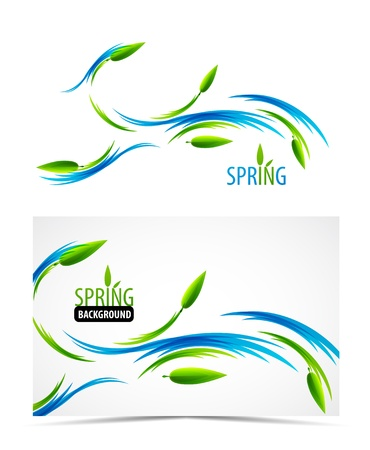 grass line: Abstract spring summer waves Illustration