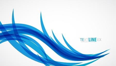 surfing waves: Blue wave vintage background