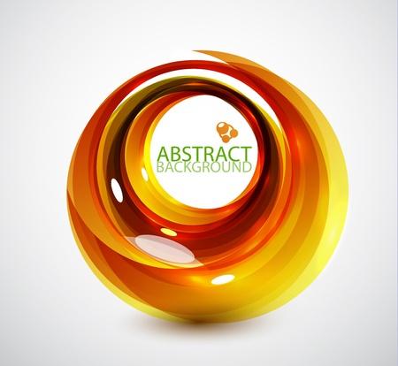 抽象的なオレンジ色の渦巻きの背景 写真素材 - 13003167