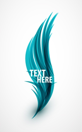 Abstract wave text line photo