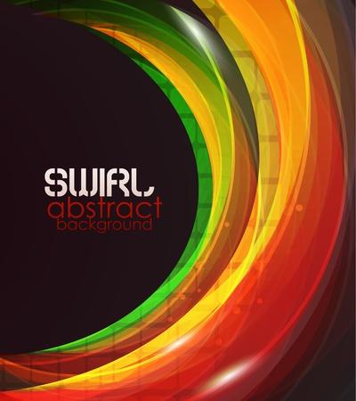 arcobaleno astratto: Abstract Orange vettore d'onda di sfondo Vettoriali