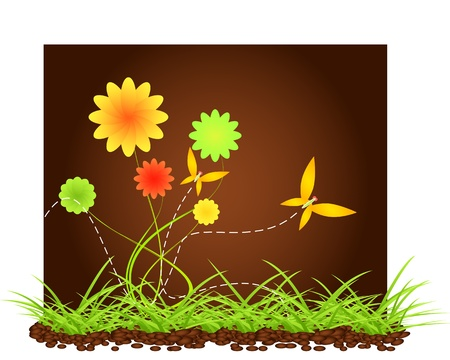 Cartoon nature background Vector