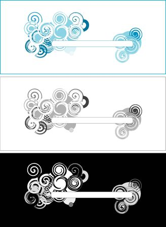 Set of swirly banners Vector