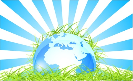 Green Earth concept Vector