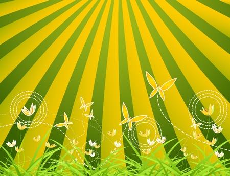 Cartoon nature background Vector