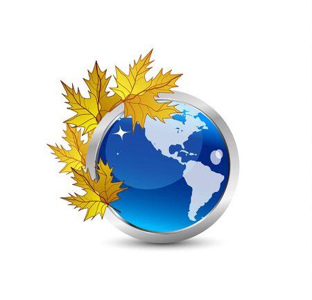 Autumn Earth concept Vector