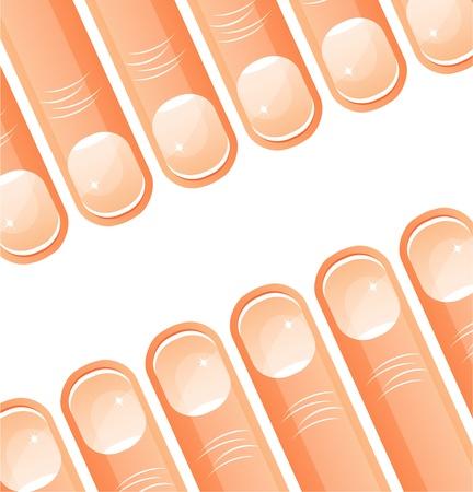 Vector fingers Vector
