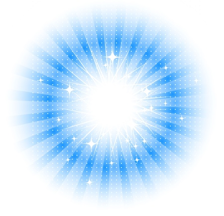 Vector isolated sun rays