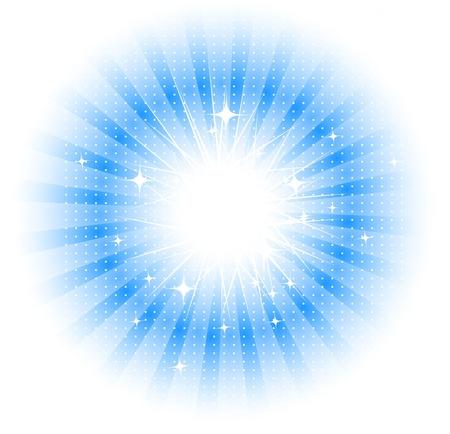 light burst: Vektor Freigestellt Sonnenstrahlen Illustration