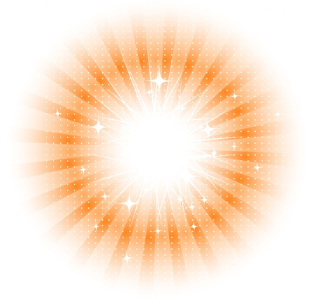Vector isolated sun rays Vector Illustration