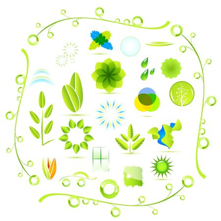 Vector eco nature icons Vector