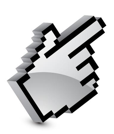 Vector metal hand pointer Stock Vector - 13191097