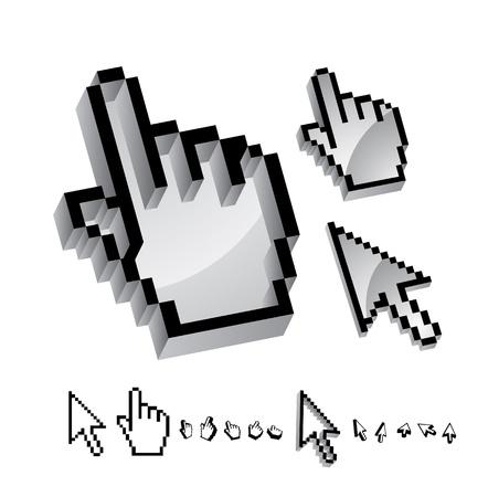 Vector metal hand pointer Stock Vector - 13191078