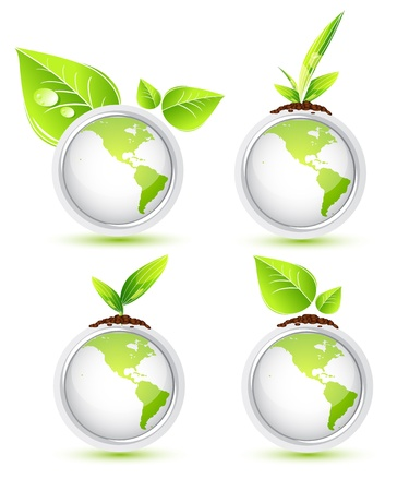 biologic: Global leaf green concept Stock Photo
