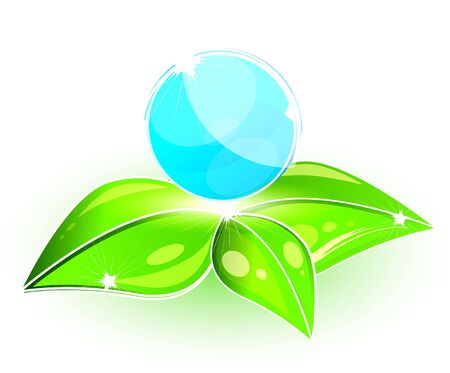 Global leaf green concept Stock Photo