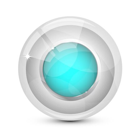 Vector glass buttons Vector