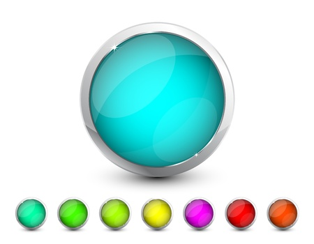 Vector glass buttons Stock Vector - 13229394