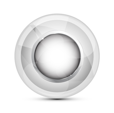 Vector glass buttons Vector