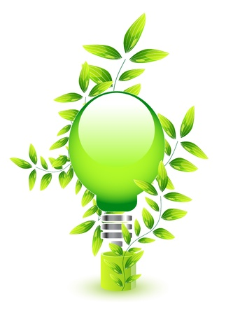 Nature light bulb icon Vector