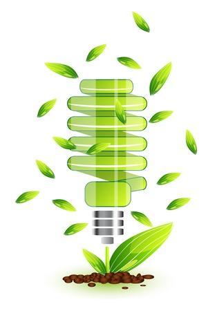 ecologic: Nature light bulb icon
