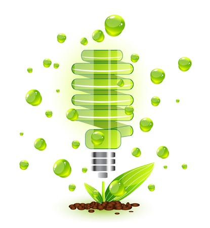 Nature light bulb icon photo