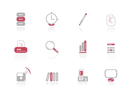 Vector office icons Vector