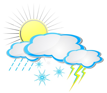 snow storm: Weather icons Illustration