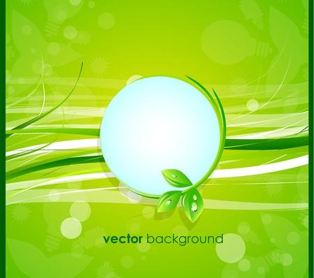 Global leaf green concept Illustration