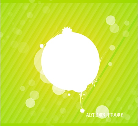Green nature silhouette background Stock Vector - 13237543