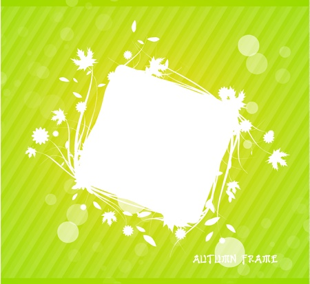 Green nature silhouette background Vector