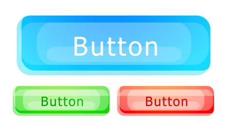 Vector glass button set Vector